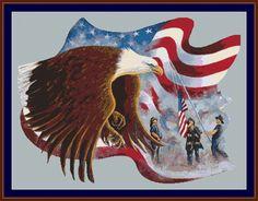 free native american crosstitch | Instant-Cross-Stitch.com | Freedom Eagle Cross Stitch Pattern | Online ...