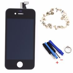 Competitive  LCD Display Touch Screen Digitizer Assembly + Tools + Screws Black White For IPhone 4S