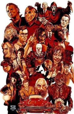 Pop Culture Art - Scary Movies by Nathan Thomas Miller  ar  popculture   horrormovies f83b78e63a875