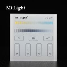 Milight B2 4-Zone CCT Adjust Smart Panel Remote Controller color temperature and brightness dimmer for led strip light lamp bulb