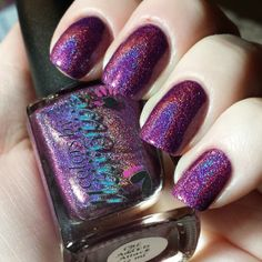 Colors by Llarowe CBL Addicts Attack! Holo Nail Polish, Holographic Nail Polish, Great Nails, Beautiful Nail Art, Things To Think About, Indie, Board, Colors, Style