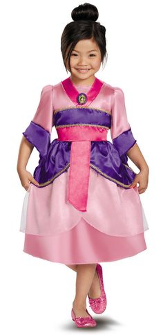 Love this Mulan Sparkle Classic Dress-Up Outfit - Toddler & Girls by Disguise on How cute is this? First time I've seen a Mulan costume :) Mulan Halloween Costume, Halloween Costumes For Girls, Girl Costumes, Mulan Costumes, Disney Halloween, Children Costumes, Girl Halloween, Pirate Costumes, Halloween 2016