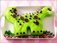 Birthday Cake, Dino Birthday Cake For Your Lovely Kids In Simple Design 0473: Easy Made or Simple Kids Birthday Cakes