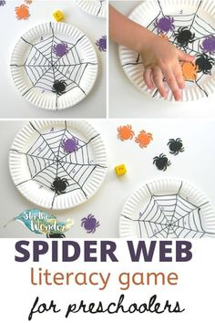 This Spider Web Literacy Game for Preschoolers is a fun way to practice letter recognition during Halloween. Literacy Games, Preschool Games, Kids Learning Activities, Toddler Preschool, Learning Resources, Spider Web Game, Pre K Pages, Kindergarten Learning, Letter Recognition