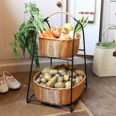 Are You Interested In Our Home Grown Two Tier Vegetable Storage Rack With Country