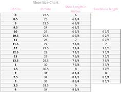 chaco sizing chart