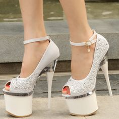 f9f9b3ec7f40 Hot selling Designer women shoes 2014 Fashion Open toe Thin heel Platform  Pumps Party shoes Sexy 18cm high heels Wedding shoes US  69.99