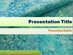 Floral Blue Batik Powerpoint Template