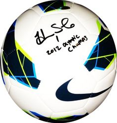 "Hope Solo Autographed Official Nike Soccer Ball 2012 London Olympics by Radtke Sports. $189.99. A HAND SIGNED AUTHENTIC NIKE SOCCER BALL BY TEAM USA SOCCER GREAT HOPE SOLO!! ABBY INSCRIBED THE BALL ""2012 OLYMPIC CHAMPS"" IN HONOR OF WINNING THE GOLD MEDAL IN LONDON. BUY FROM A REPUTABLE SOURCE OF AUTOGRAPHED MEMORABILIA! RADTKE SPORTS HAS BEEN IN BUSINESS SINCE 1998 SELLING AUTHENTIC AUTOGRAPHED MEMORABILIA. Certificate of Authenticity This ball is accompani..."