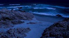 Relaxing ocean sounds for peaceful sleeping with soothing rolling waves at night, no music. This relaxing sleep video without music will help you fall aslee. Ocean Sounds, Nature Sounds, Ocean Waves, Calming, How To Fall Asleep, Relax, Outdoors, Night, Water