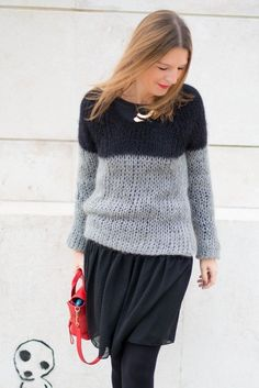 Two-color knitted sweater by Queen Isabel (Marant!)