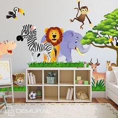 Wandtattoo Fürs Kinderzimmer, Baby. Sticker Aufklebr Tiere, Safari - SDB1 | eBay
