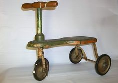 1900s Vintage Tricycle Early Last Century Decorative Primitive Wood with Metal | eBay