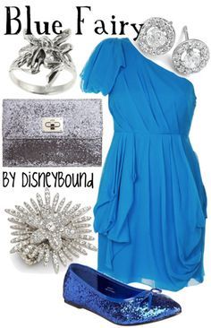 Blue Fairy from Pinocchio outfit from DisneyBound