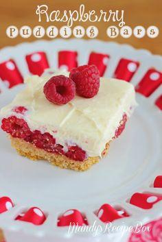 Raspberry Pudding Bars