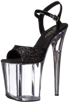 Pleaser Women's FLAM810/BG/C Platform dress Sandal -- You can find out more details at the link of the image.