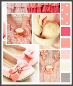 Lizzy B Loves visual + sparkle = inspiration : soft corals baby shower (click on image to view in full) #baby_shower_inspiration #baby_shower_color_palette #color_palette_inspiration
