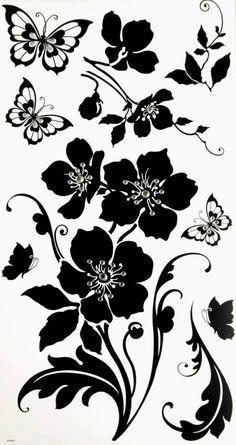 naklejka na ścianę kwiaty WB 049