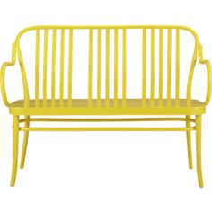 Sonny Yellow Bench | Crate and Barrel