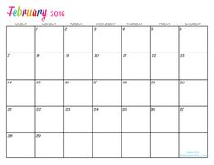 Create Your Own Calendar With This Fill In The Blank Calendar