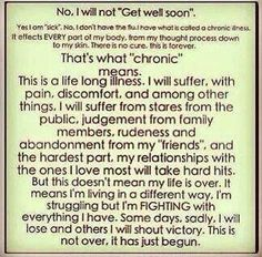 What chronic means...
