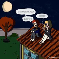 Apareciste tu ❤️✨ . . #pelaeldiente #wacom #photoshop #draw #cute #couple #pareja #viñeta #viñetas #comic #love #chicadelosrulos