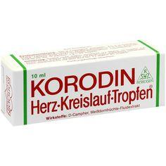 KORODIN Herz-Kreislauf-Tropfen zum Einnehmen:   Packungsinhalt: 10 ml Flüssigkeit zum Einnehmen PZN: 04251590 Hersteller: ROBUGEN GmbH…