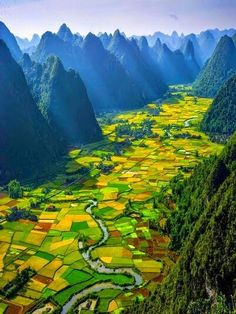 Amazing and beautiful landscape. Looks like a tapestry.