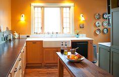 Colorhouse CLAY .02 Kitchen - orange kitchen paint inspiration