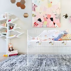 Shown with Vetro Crib and Menagerie Bedding Collection