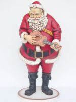 Santa Claus with Guitar life size/levensgroot