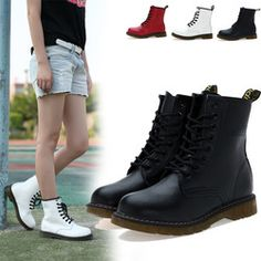 Online Shop New 2013 Dr Martin Spring/Winter Women Fashion Leather Motorcycle Boots Hinking Sneakers Waterproof Shoes Leather Motorcycle Boots, Leather Ankle Boots, Combat Boots, Women Motorcycle, Red Bottom Boots, Punk Shoes, Warm Boots, Waterproof Shoes, Martin Boots