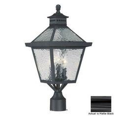 Acclaim Lighting�Bay Street 21-in H Matte Black Pier-Mounted Light