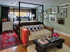 love this cozy eclectic bedroom!
