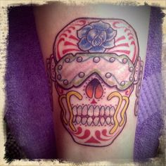 Vic Rattlehead/Sugar Skull...this is the tattoo that Sissy and I would get if we were conjoined twins!