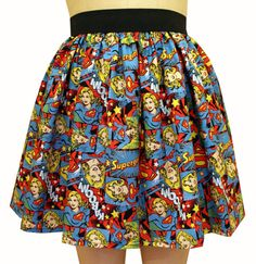 Supergirl Skirt by GoFollowRabbits on Etsy