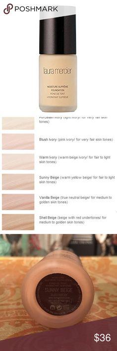 Laura Mercier makeup Laura Mercier moisture supreme foundation in Sunny Beige. Never used. 1 oz Sephora Makeup Foundation