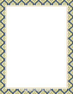 Free Moroccan Border Templates Including Printable Border Paper And Clip  Art Versions. File Formats Include GIF, JPG, PDF, And PNG.  Free Word Borders Templates