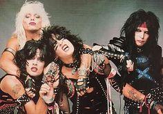 Motley Crue - one of the best Big Hair Bands Big Hair Bands, Hair Metal Bands, Glam Metal, Tommy Lee, Nikki Sixx, 80s Music, Rock Music, Hard Rock, Heavy Metal