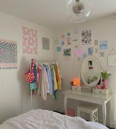 Pastel Room Decor, Indie Room Decor, Cute Room Decor, Aesthetic Room Decor, Pastel Bedroom, Study Room Decor, Room Design Bedroom, Room Ideas Bedroom, Bedroom Decor
