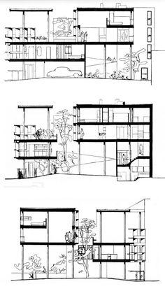 LA PLATA - Casa Curuchet · Arq. Le Corbusier - planos secciones   by Adrián Mallol i Moretti (AMiM)