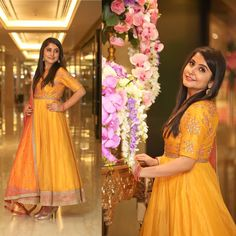 Gorgeous Nupur in our mustard anarkali.  mrunalini rao  mrunalini rao design  client diaries  mustard love.  09 January 2017