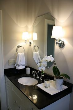 great bathroom color with black
