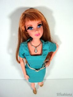 How to sew square neckline dress for Barbie (Pattern)