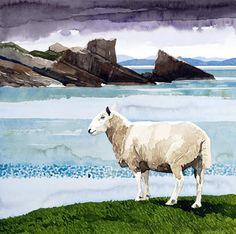Ian Sidaway - Scotland-Clachtol, watercolour