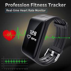 ec7bcd39ce4 New Fitness Tracker K1 Smart Bracelet Real-time Heart Rate Monitor  waterproof watch
