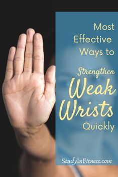 Do you have weak wrists? If your wrists get tired, stiff, or sore after doing exercises on your hands and knees or yoga, then you need to read on! Whether you want to strengthen weak wrists for yoga, improve your workout performance, or learn some new wrist stretches and exercises to reduce pain or discomfort, this post will show you the most effective ways to strengthen your weak wrists quickly.  Repin then read on or watch the video to get stronger wrists today! #WeakWrists…