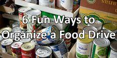 6 Fun Ways to Organize a Food Drive!