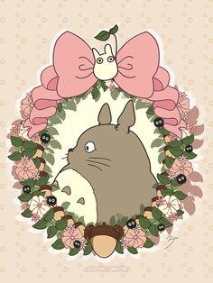 Totoro - an anime character by Hayao Miyazaki Cool tattoo idea! Hayao Miyazaki, Desu Desu, Ghibli Tattoo, Studio Ghibli Movies, Girls Anime, Howls Moving Castle, My Neighbor Totoro, Animation, Kawaii Shop