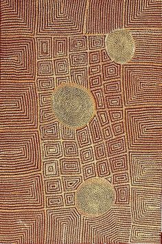 Aboriginal art - Tjamala 2010. Devon Yates. 1016mm x 1524mm: acrylic on canvas